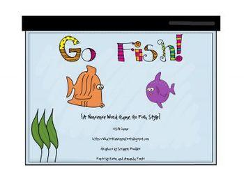 Go Fish Game {Nonsense Word Style}