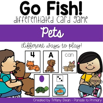 Go Fish Game - Pets - Differentiated