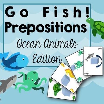 Go Fish! Game: Prepositions Ocean Animals