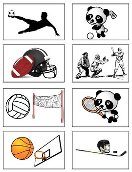 Go Fish! Game - Sports and Hobbies (French/Spanish)