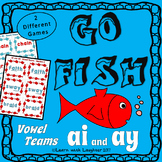 Go Fish Game - 'ai' and  'ay' Vowel Teams (2 different games)