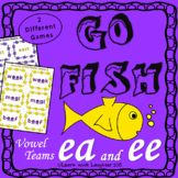 Go Fish Game - 'ee' and  'ea' Vowel Teams (2 different games)