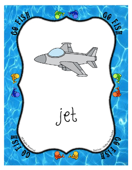 Go Fish Game for the letter J ~ Full Page Cards and Quarter Page Cards included