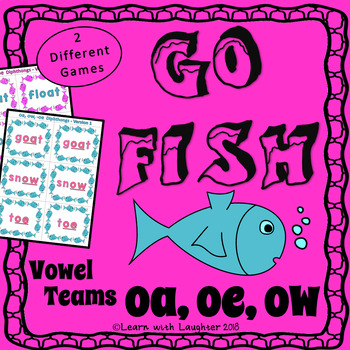 Go Fish Game - 'oa', 'ow', and  '-oe' Vowel Teams (2 different games)