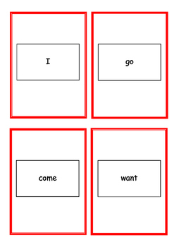 Go Fish Game using Reception Class High Frequency words