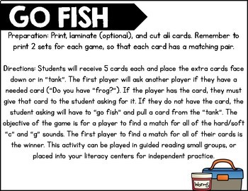 Go Fish  Hard and Soft C and G