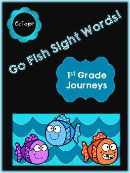 Go Fish!  Journeys 1st Grade Sight Words