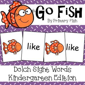 Go Fish - Kindergarten Dolch Sight Words