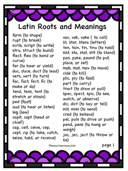 Go Fish! Latin Roots