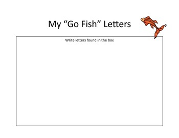 Go Fish Letter Recognition: Center or RTI Activity