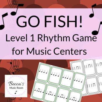 Go Fish Level 1 Rhythm Game for Elementary Music Centers