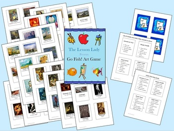 Go Fish! Master Artist & Artwork Art Game