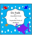 Go Fish Math Game with Standard Form and Expanded Form of Numbers
