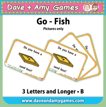Go Fish/ Memory Match: CVC Phonics B (pictures only)