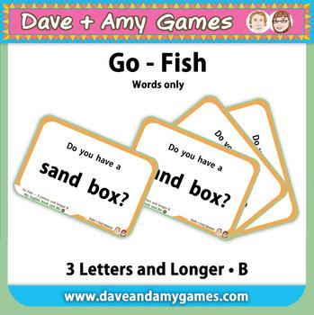 Go Fish/ Memory Match: CVC Phonics B (words only)