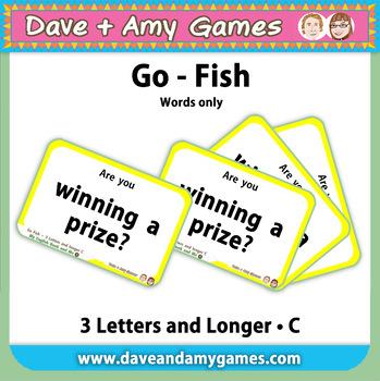 Go Fish/ Memory Match: CVC Phonics C (words only)