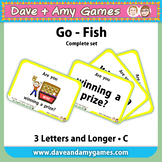 Go Fish/ Memory Match: CVC Phonics C (pictures and words)