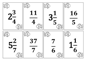 Go Fish: Mixed Numbers and Improper Fractions