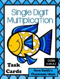 Multiplication Task Cards for Single Digit Multiplication Ocean Themed