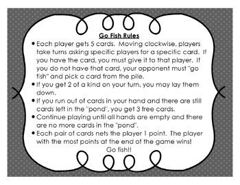 Go Fish Music Symbol/Rhythm Card Game