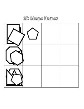 Go Fish: Naming 2D Shapes