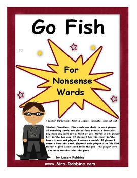 Go Fish! Nonsense Words