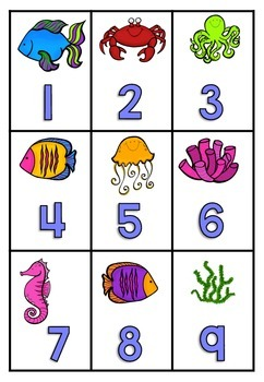 Number Recognition Card Games 1-10 / 1 set of cards = 10+ different games!