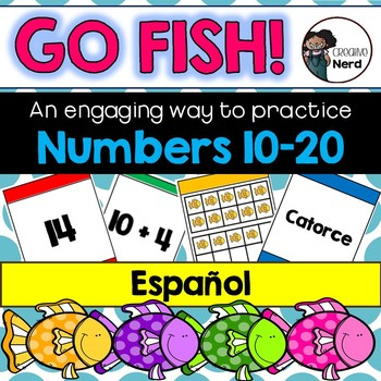 Go Fish! A multiple representation game, numbers 10 – 20 (Spanish!)