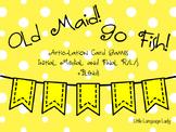 Go Fish/Old Maid Articulation Bundle