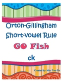 Go Fish: Orton Gillingham Short Vowel Rule ck