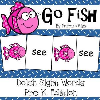 Go Fish - PreK Dolch Sight Words