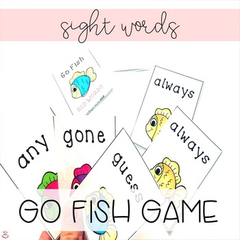 Go Fish! Red Words (Nonphonetic Words) List A Orton-Gillingham