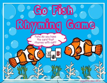 Go Fish Rhyming Game