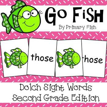 Go Fish - Second Grade Dolch Sight Words