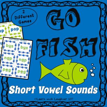 Go Fish Game - Short Vowel Sounds (CVC words)