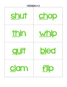 Go Fish!  A Game of Short Vowel Words w/ Digraphs and Consonant Blends