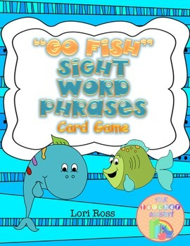 Sight Word Phrases {GO FISH} Card Game