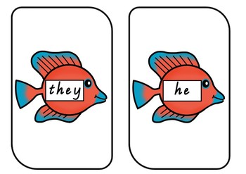 Go Fish Sight Words M100W GOLDEN RED BLUE