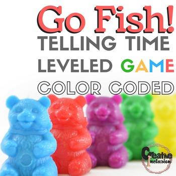 Go Fish! Telling Time, hour, half hour, quarter hour, 5 minutes