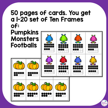Go Fish Ten Frames Math Game to 20 October NBT Kindergarten, First, Second Grade