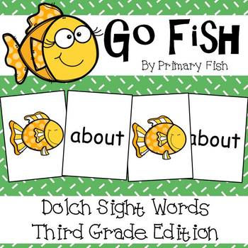 Sight Word Go Fish - Third Grade