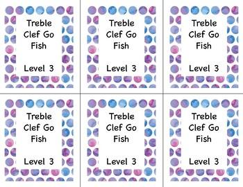 Go Fish: Treble Clef Note ID Lvl 3