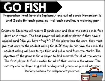 Go Fish Vowel Teams