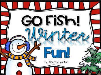 Go Fish!  Winter Fun!  Teen Number Games