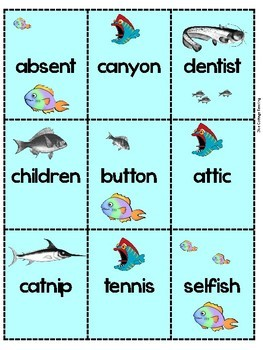 Go Fish! With Two Syllable Words