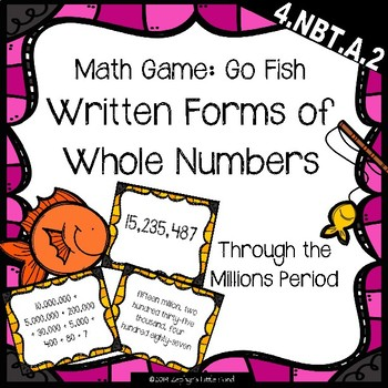 Go Fish: Written Forms of Whole Numbers {Math Game}