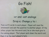 Go Fish! affix y and -er and -est endings