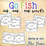 Go Fish - ank, ink, unk words