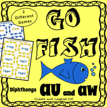 Go Fish - 'au' and 'aw' Diphthongs  (2 different games)