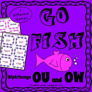 Go Fish - 'ou' and 'ow' Diphthongs  (2 different games)